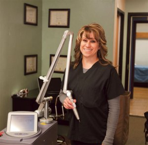 Dawn Maestas, co-owner and laser tech at Lazarus Tattoo Removal