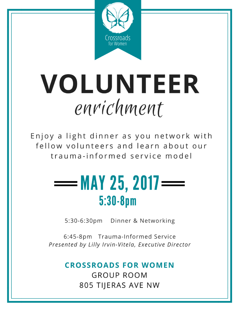 CRFW_Flyer_Volunteer Enrichment_2017