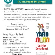 Yard Sale Oct. 15, 2016