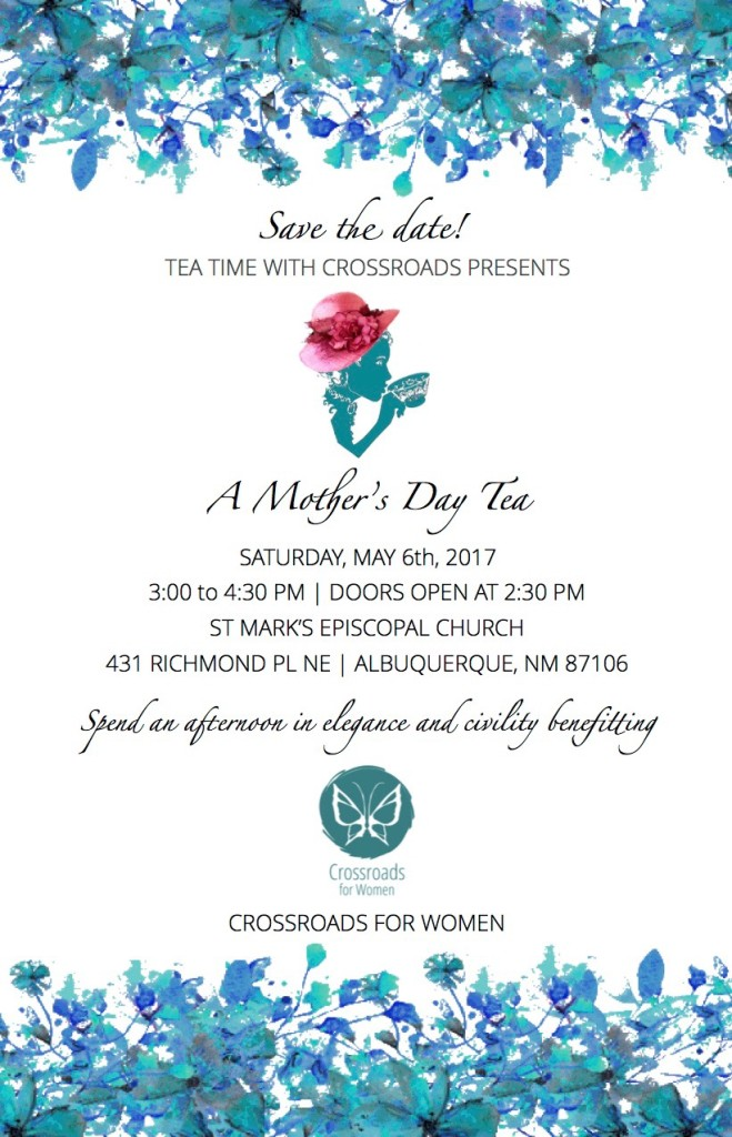 Mother's Day Tea Save the Date 2017